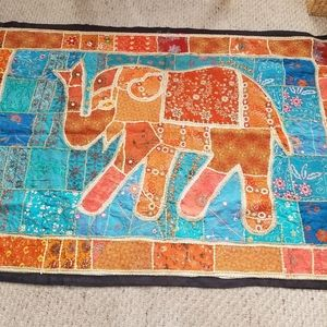 Indian Embroidery elefant pano